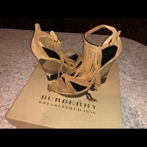 Burberry Caramel Wedge Sandal size 6 US